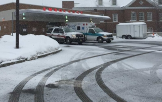 healthcare and medical facility snow and ice