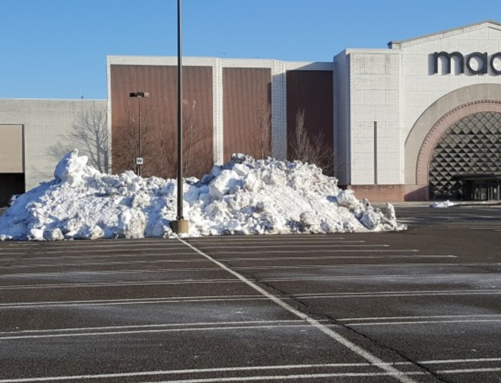 Snow Bank Removal for Commercial Lots