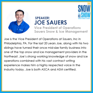 Joe Sauers - 2018 Snow and Ice Show
