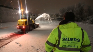 Sauers snow removal services snow plowing