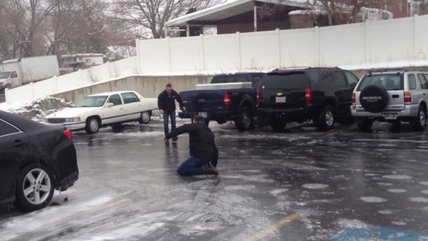 Sauers deicing services help prevent ice covered surfaces