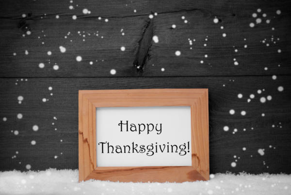 Happy Thanksgiving from Sauers Snow and Ice Management