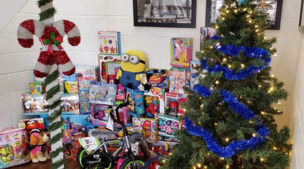 Sauers Snow removal company - giving back - toy drive