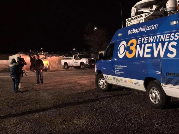 CBS3 KYW interviews Joe Sauers - winter storm 2019
